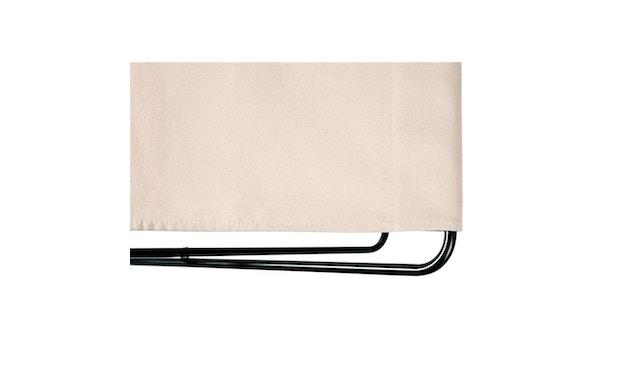 Manufakturplus - Fußteil für Hardoy Butterfly Chair - Stahlrahmen schwarz, Baumwolle oliv - 3