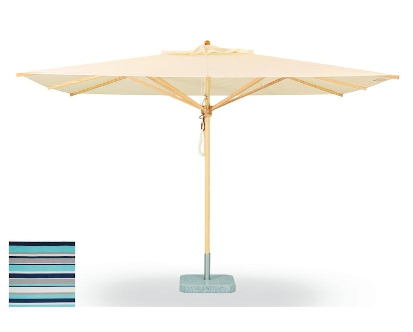 Weishäupl - Klassiker Sonnenschirm  - quadratisch klein - Acryltuch Blue Sea - 0