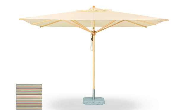 Weishäupl - Parasol classique - Petit format et carré - Sans méchanisme de pliage - Acryl multicolore mini - 0