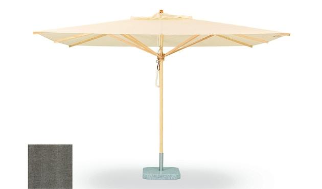 Weishäupl - Parasol classique - Grand format et carré - Acryl Rips gris-pierre - Sans méchanisme de pliage - 0
