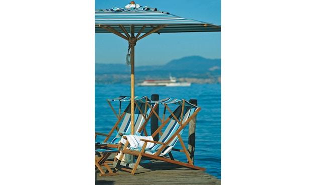 Weishäupl - Klassiker Sonnenschirm  - rund klein - Acryltuch Blue Sea Mini - 8