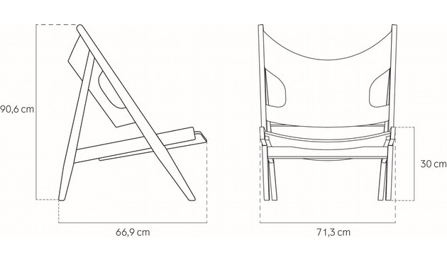 Menu - Knitting Lounge Chair - Eiche, dunkel gebeizt - 6
