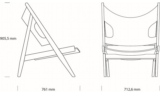 Menu - Knitting Lounge Chair - Eiche, dunkel gebeizt - 5