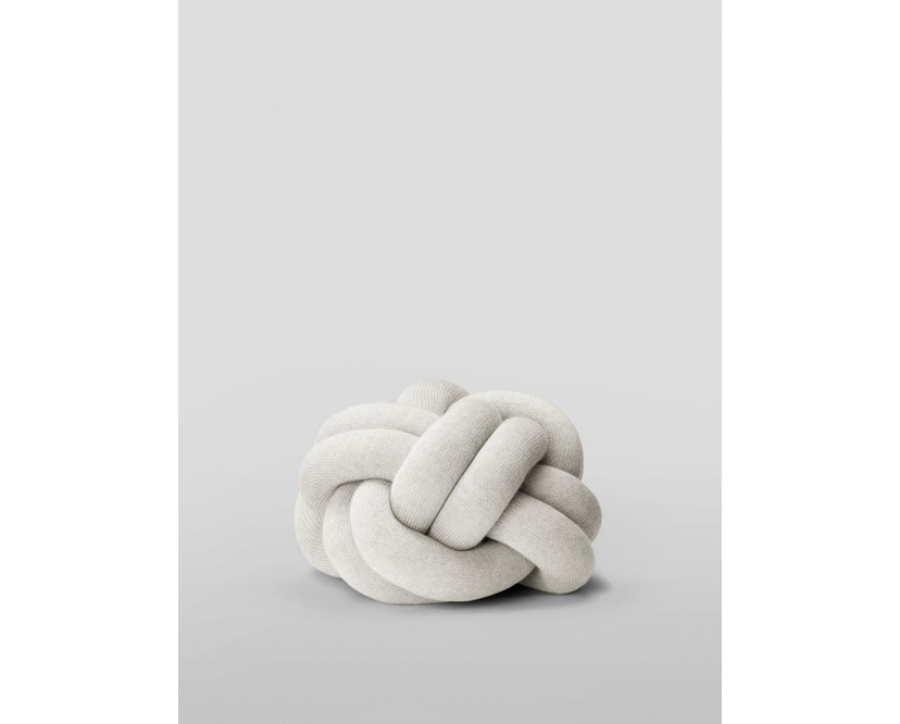 Design House Stockholm - Knot Kussen - gelb - lichtgrijs - 1