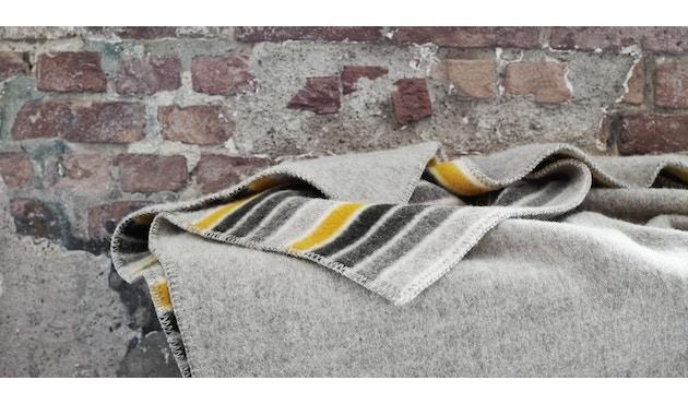 Roros Tweed - Konfetti Decke - grey-yellow - 2