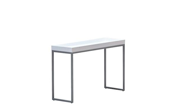 Jan Kurtz - Pizzo Konsolentisch - Esche weiß/silber - 100 x 70 x 34 cm - 2