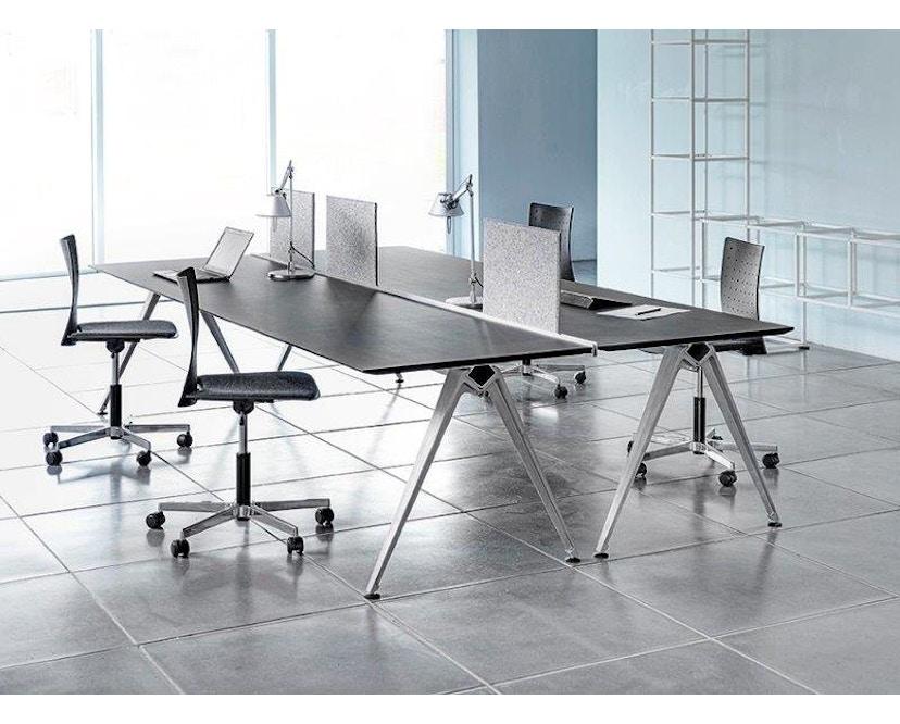 Randers + Radius - GRIP Basic tafel - 239 - 80 cm - wit - Zonder stekkerdoos - zwart - 24