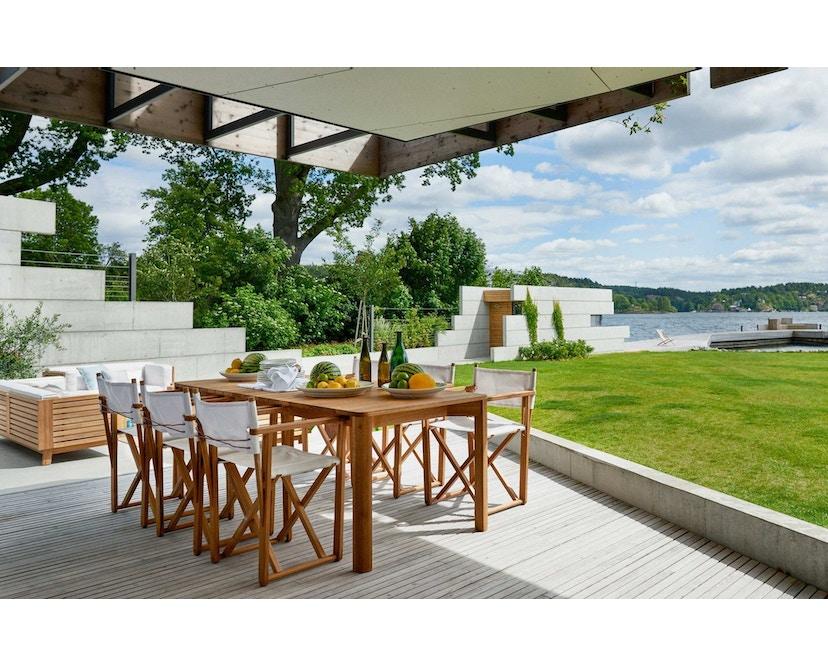 Skargaarden - Kryss Lounge Stuhl - Tuch - natur - 2