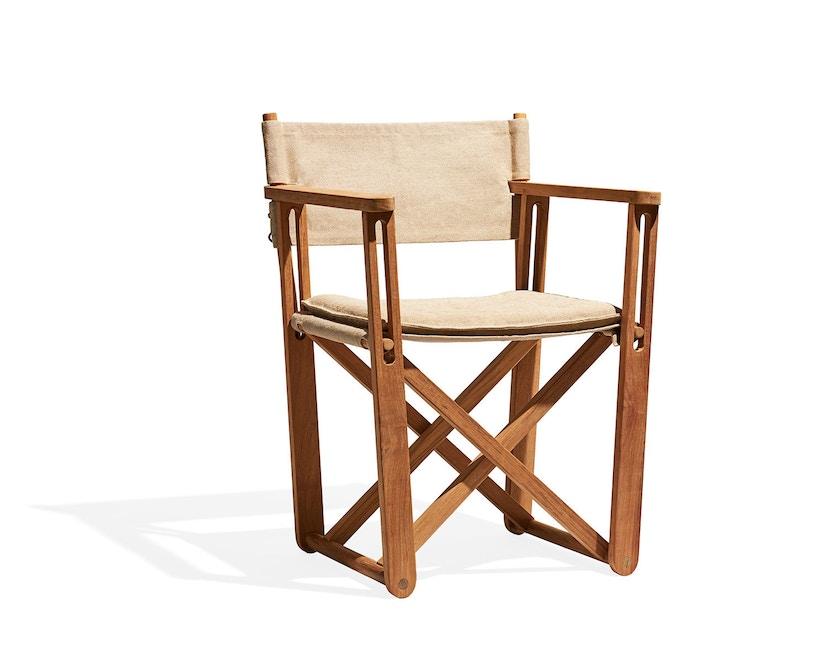 Skargaarden - Kryss Lounge Stuhl - Tuch - natur - 1