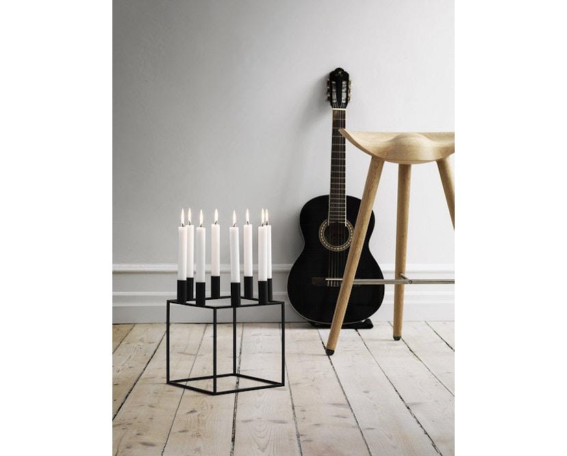by Lassen - Kubus 8 Kerzenhalter - weiß - 6