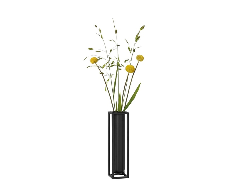by Lassen - Kubus Vase Flora - schwarz - 3