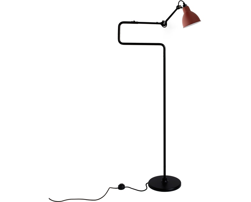 DCW éditions - LAMPE GRAS N°411 Stehleuchte - rot - rund - 0
