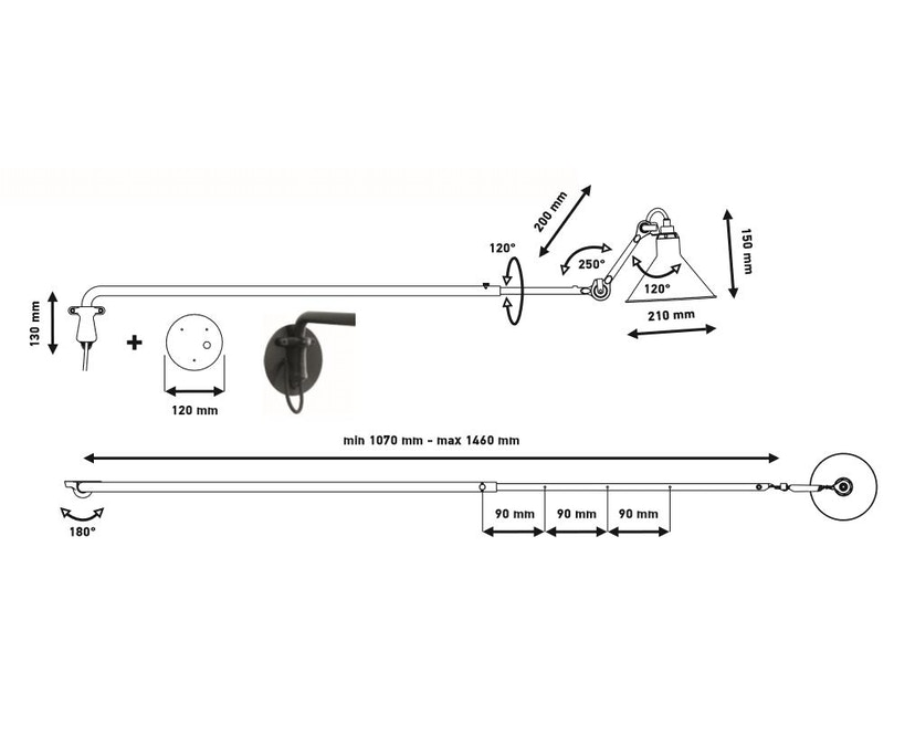 DCW éditions - LAMPE GRAS N°213 Wandleuchte - 6