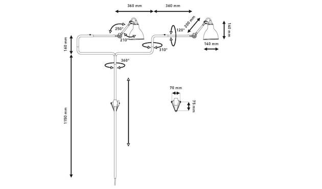 DCW éditions - LAMPE GRAS N°217 Wandleuchte - 5