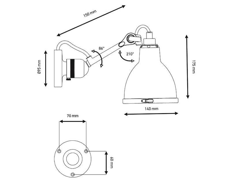 DCW éditions - LAMPE GRAS N°304 BATHROOM CL I Wandleuchte - 2