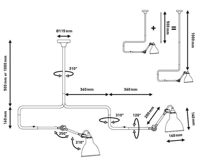 DCW éditions - LAMPE GRAS N°312 Hängeleuchte - 5