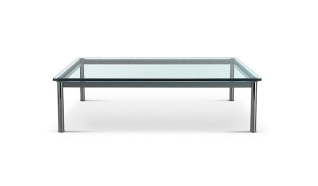 Cassina - LC 10-P Couchtisch - Tischplatte aus Kristallglas - Zarge weiß - 70 x 70 cm - 1