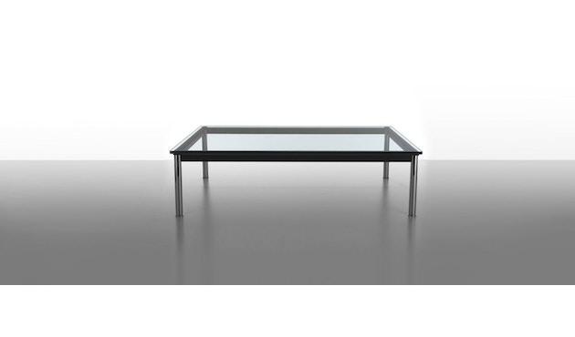Cassina - LC 10-P Couchtisch - Tischplatte aus Kristallglas - Zarge weiß - 70 x 70 cm - 2