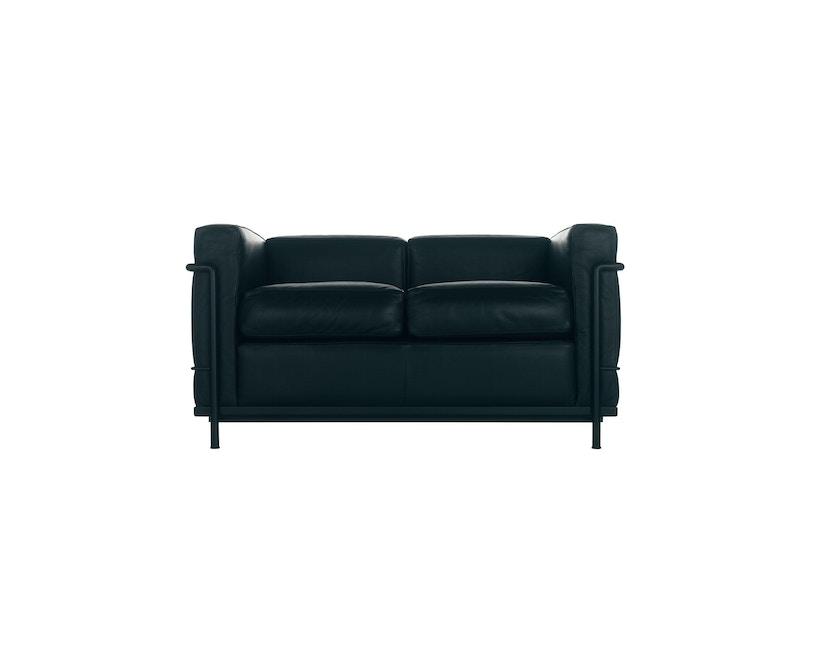 Cassina - LC 2 Divano 2 Sofa - Gestell schwarz - schwarz - 1