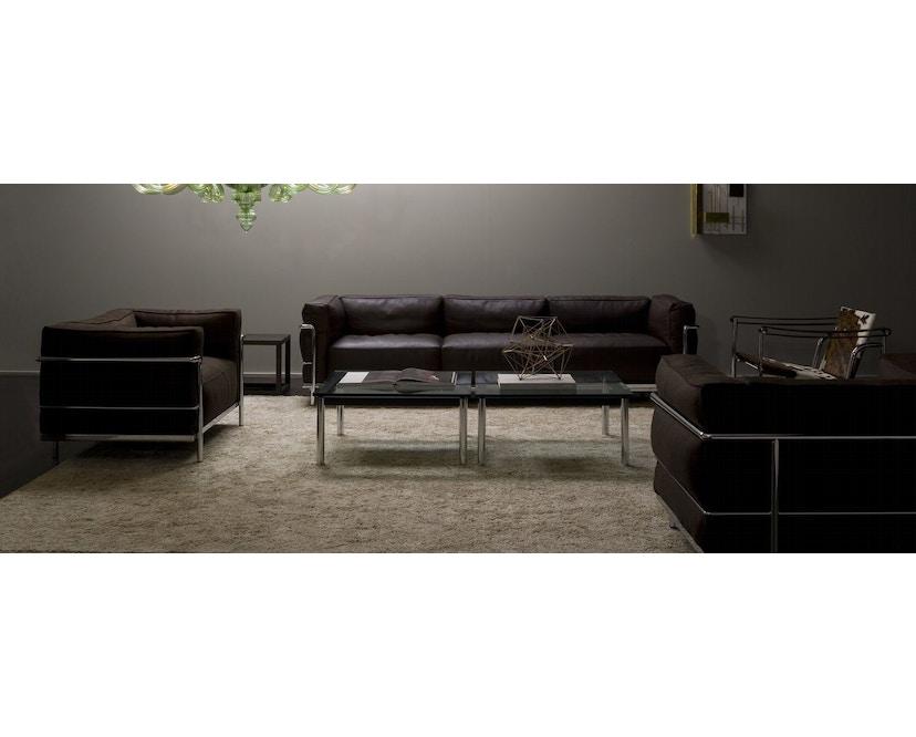 Cassina - LC 3 - 3 Sitzer Sofa - Leder Scozia schwarz - Gestell schwarz - 4