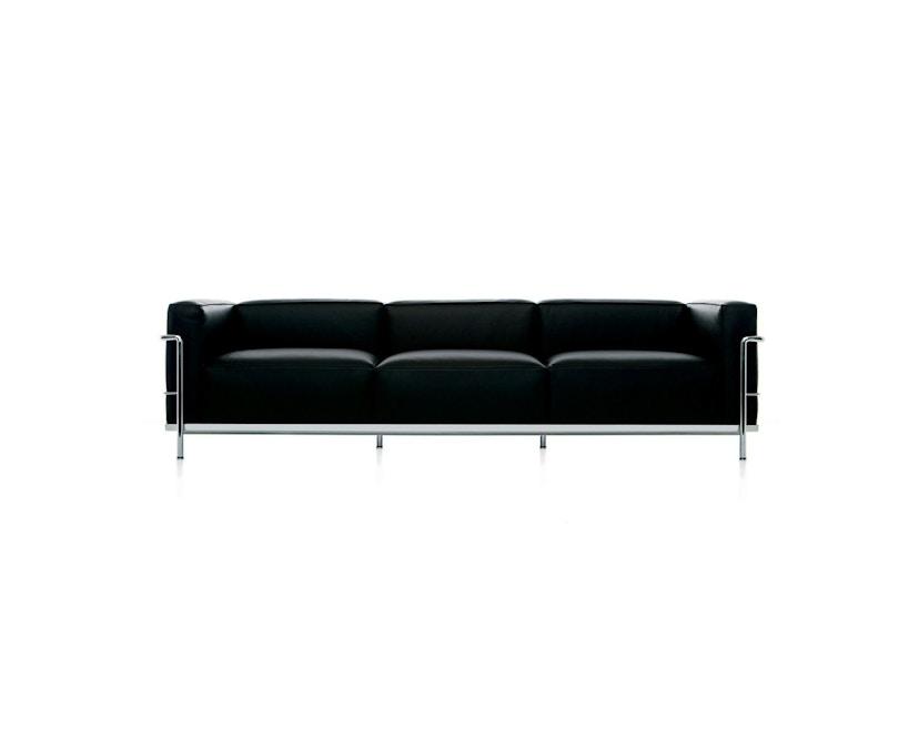 Cassina - LC 3 - 3 Sitzer Sofa - Leder Scozia schwarz - Gestell schwarz - 1