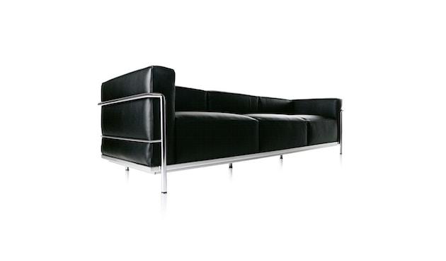 Cassina - LC 3 - 3 Sitzer Sofa - Leder Scozia schwarz - Gestell schwarz - 2