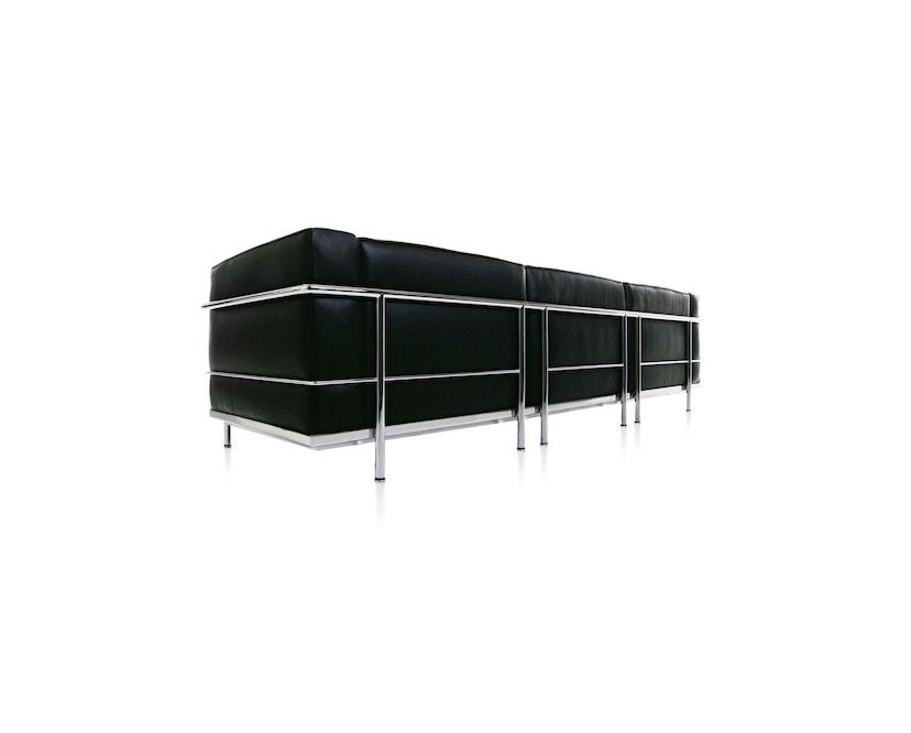 Cassina - LC 3 - 3 Sitzer Sofa - Leder Scozia schwarz - Gestell schwarz - 3