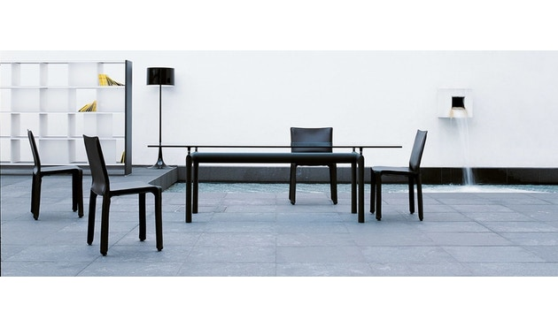 Cassina - Table LC 6  - verre cristal - noir - 2
