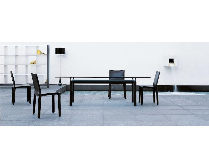 Cassina - LC 6 Tisch - Tischplatte aus Kristallglas - Gestell schwarz - 2