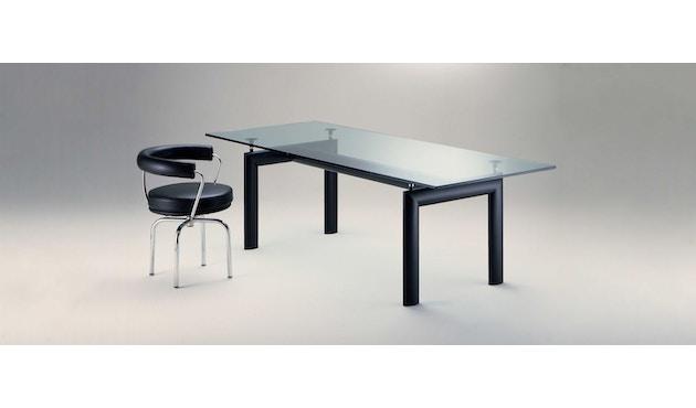Cassina - LC 6 Tisch - Tischplatte aus Kristallglas - Gestell schwarz - 3