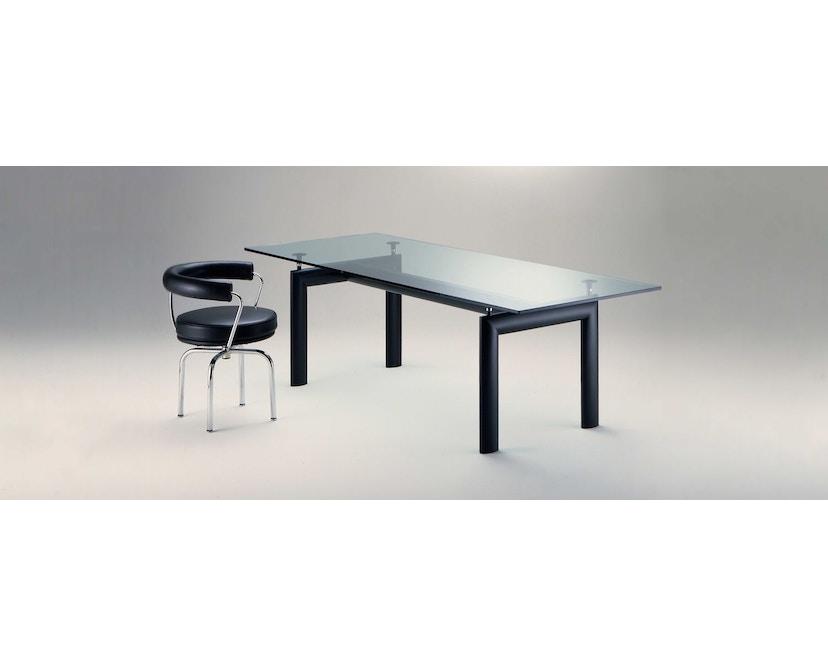 Cassina - Table LC 6  - verre cristal - noir - 3