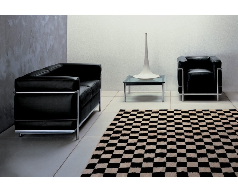 Cassina - LC 2 Divano 2 Sofa - Gestell schwarz - schwarz - 2