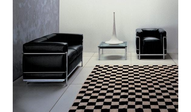 Cassina - LC 2 Divano 3 Sofa - Gestell schwarz - schwarz - 2