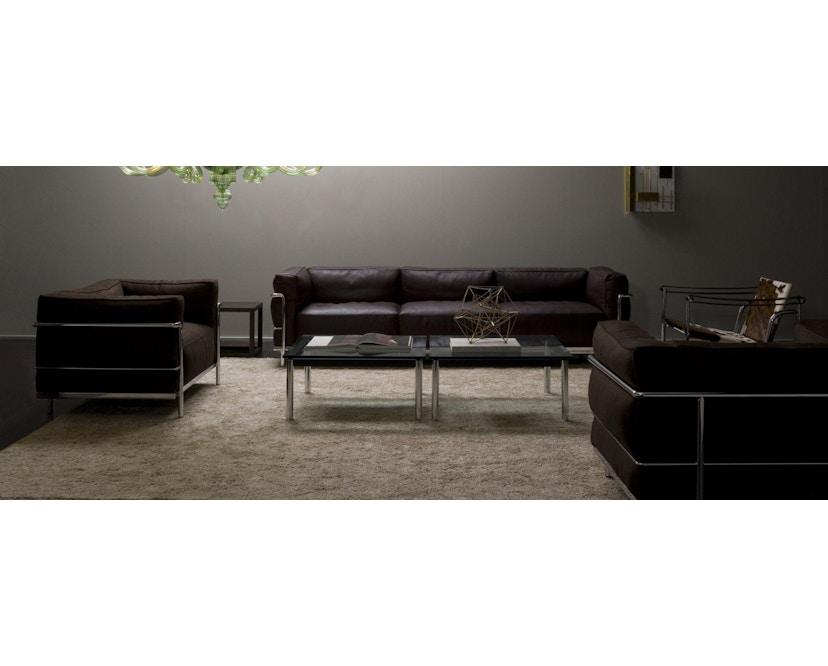 Cassina - LC 3 Poltrona fauteuil - leer zwart - zwart - 2