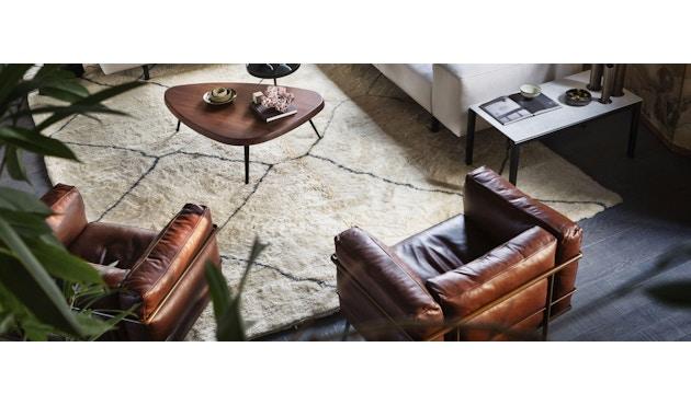 Cassina - LC 3 Poltrona fauteuil - leer zwart - zwart - 3