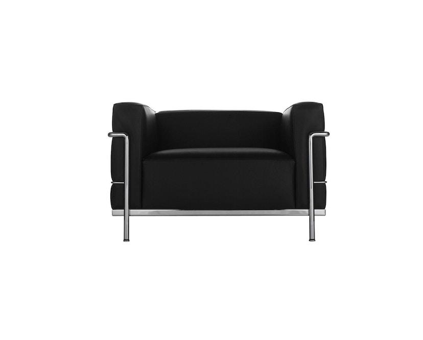 Cassina - LC 3 Poltrona fauteuil - leer zwart - zwart - 1