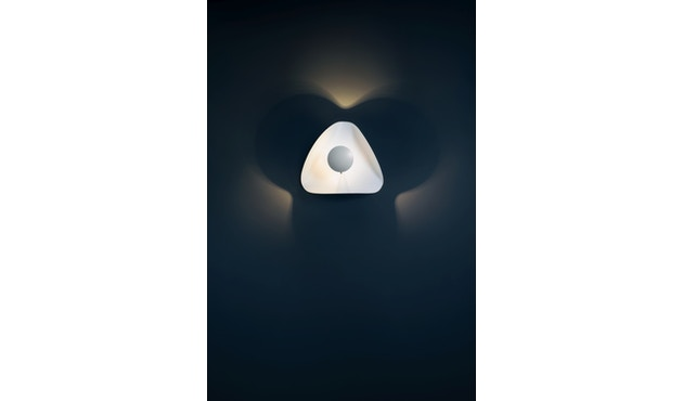 Catellani & Smith - Lederam Manta CWS1 Wand-/Deckenleuchte - Scheibe weiß, Stab gold, Schirm weiß - 1