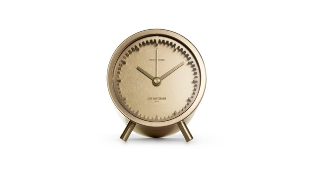 LEFF amsterdam - Tube Clock Tischuhr - Messing - 2