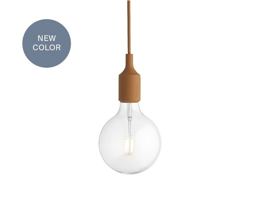 Muuto - Suspension E 27 LED - brun argile - 1