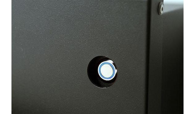 Radius - Letterman Briefkasten 4 mit blauer Türklingel- orange - 3