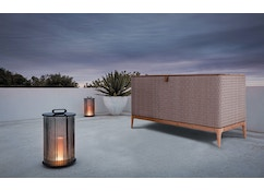 Coffre de rangement Lima - Natural Teak / Wheat Wicker