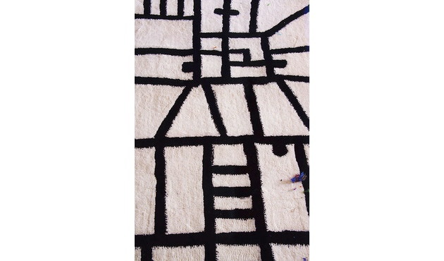 Nanimarquina - Black on white Teppich - Limbo - 250 x 250 - 2