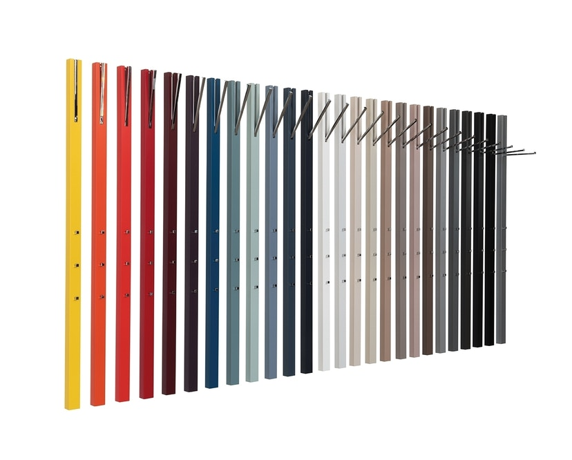 Schönbuch - Line Wandgarderobe - Lack schwarz - mit ausklappbarer Stange - 3