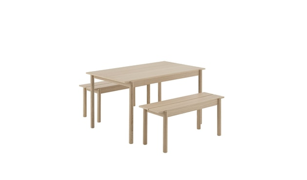 Muuto - Linear Wood Series Bank - eiken - 110 cm - 2