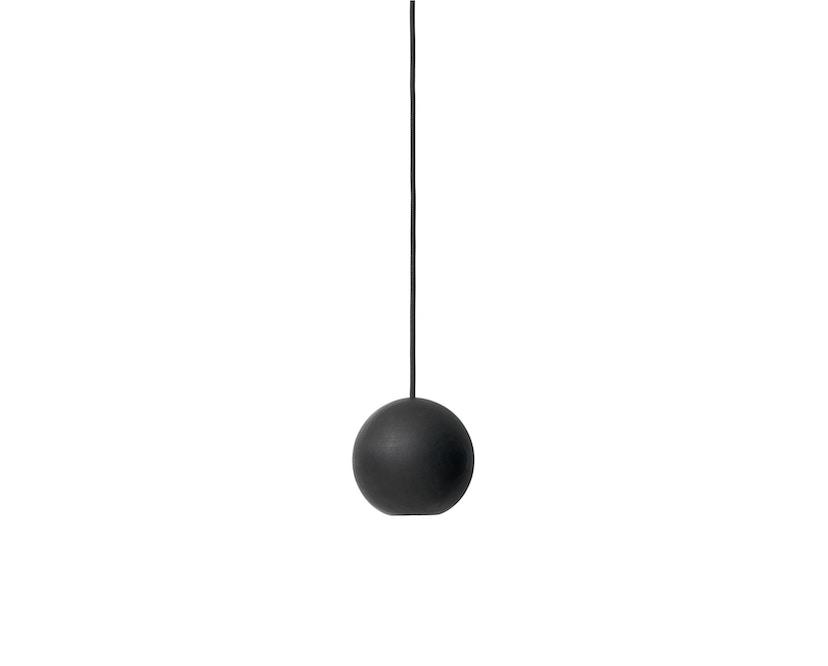 Mater - Liuku Base Ball Hängeleuchte schwarz lackiert -  - 1