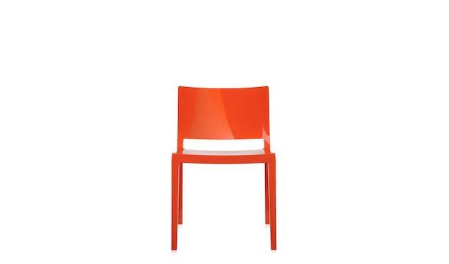Kartell - Lizz stoel - hoogglans gelakt - oranjerood - 5