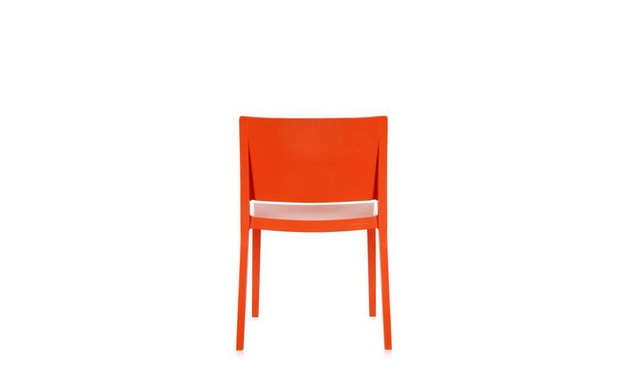 Kartell - Lizz stoel - hoogglans gelakt - oranjerood - 6