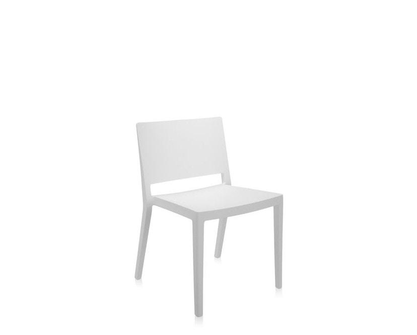 Kartell - Lizz Mat Stuhl - matt gefärbt - weiß - 2
