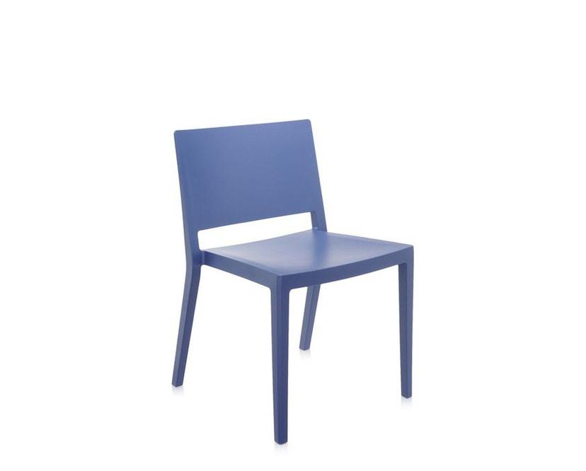 Kartell - Lizz Mat Stuhl - matt gefärbt - blau - 1