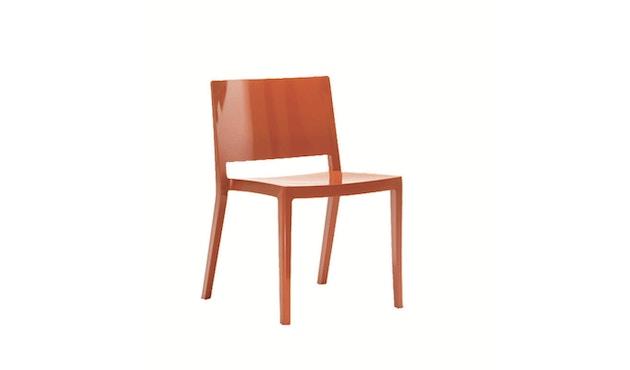 Kartell - Lizz stoel - hoogglans gelakt - oranjerood - 3